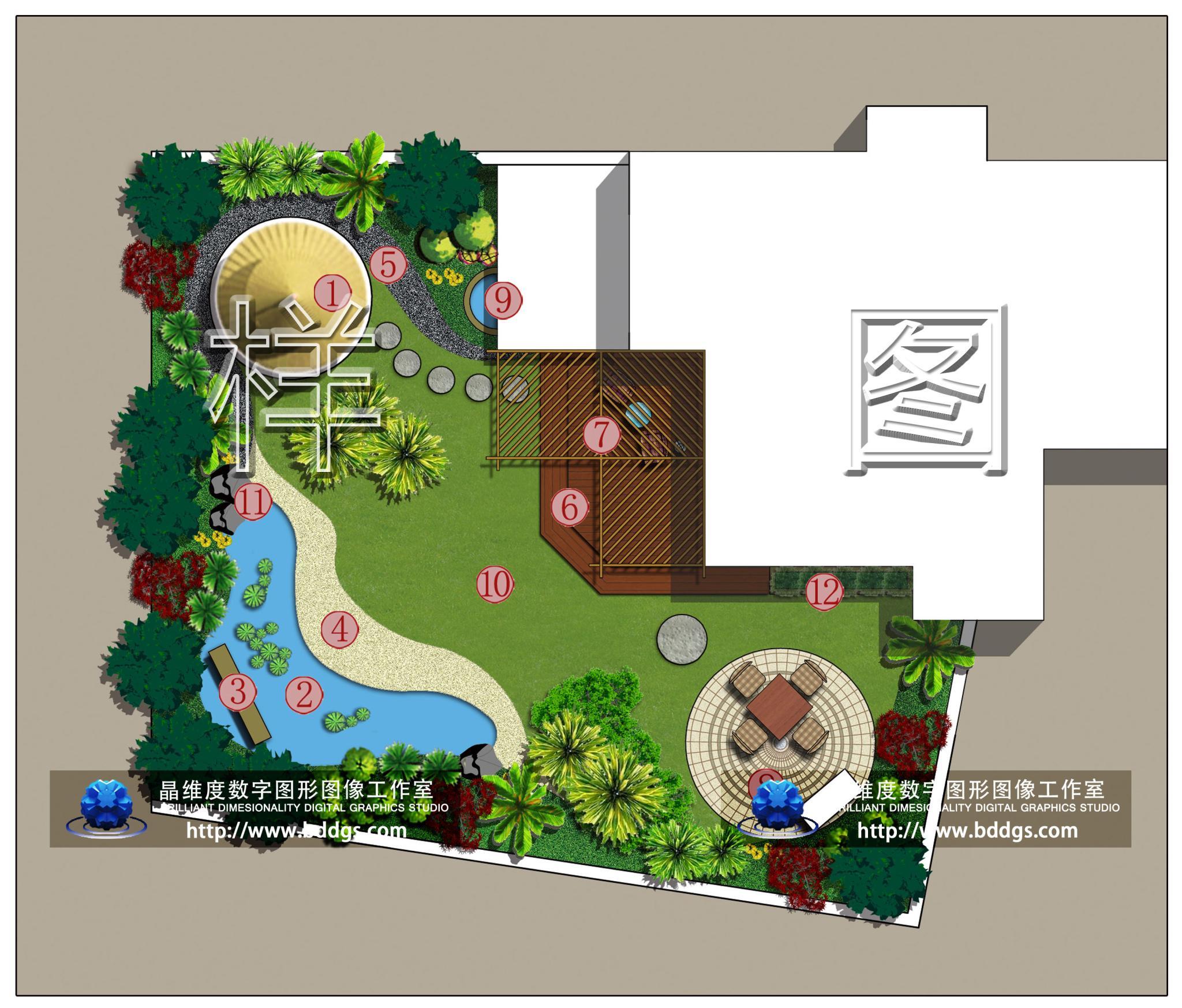 德阳某别墅屋顶花园设计平面.jpg